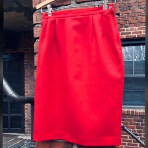 CLOSEOUT Vintage Red Pencil Skirt by Haberdashery